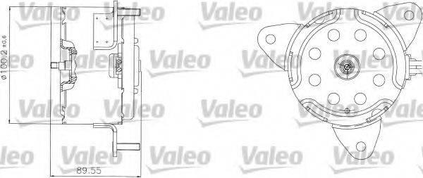 VALEO 698308 Электродвигатель, вентилятор радиатора