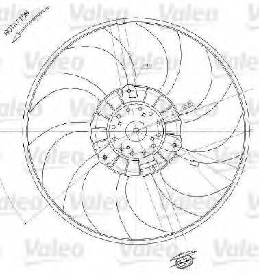 VALEO 698412 Вентилятор, охлаждение двигателя