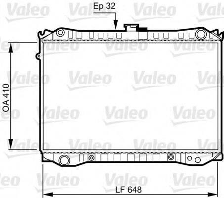 VALEO 731188 Радиатор, охлаждение двигателя