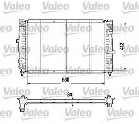 VALEO 731755 Радиатор, охлаждение двигателя