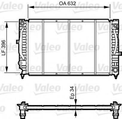 VALEO 731756 Радиатор, охлаждение двигателя