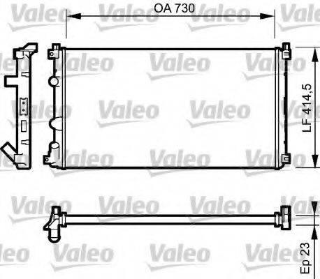 VALEO 732917 Радиатор, охлаждение двигателя