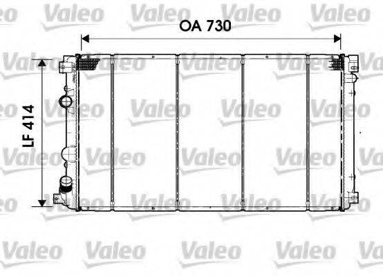 VALEO 732919 Радиатор, охлаждение двигателя