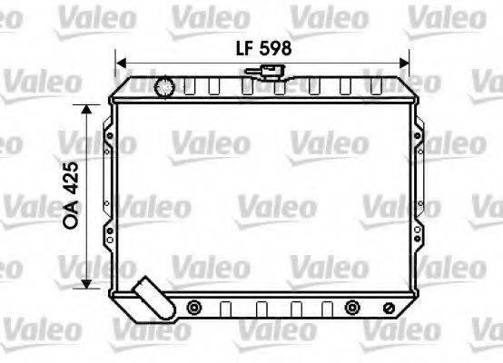 VALEO 734809 Радиатор, охлаждение двигателя