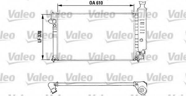 VALEO 810919 Радиатор, охлаждение двигателя