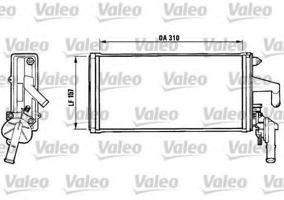 VALEO 812137 Теплообменник, отопление салона