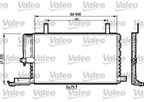 VALEO 816970 Конденсатор, кондиционер