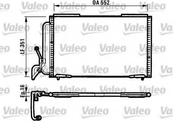 VALEO 817060 Конденсатор, кондиционер