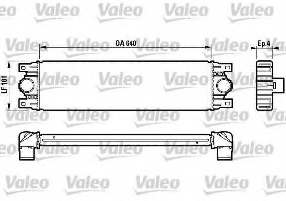VALEO 817115 Интеркулер