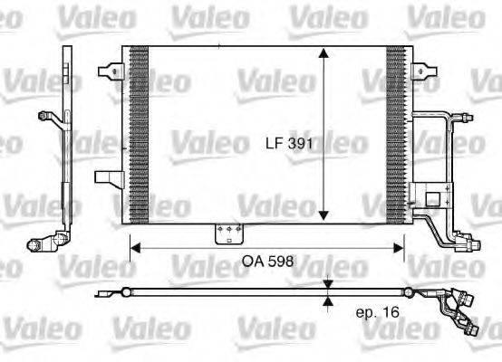 VALEO 817665 Конденсатор, кондиционер