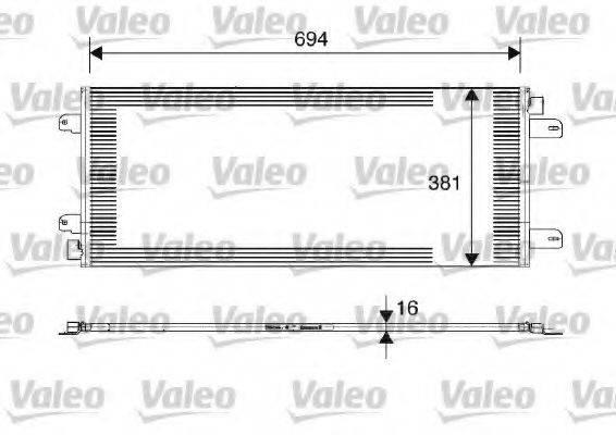 VALEO 817689 Конденсатор, кондиционер