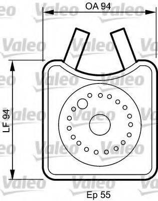 VALEO 817943 масляный радиатор, двигательное масло