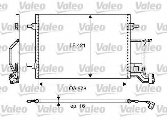 VALEO 817997 Конденсатор, кондиционер