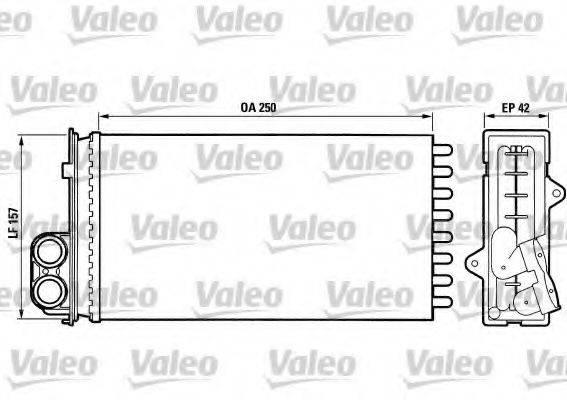 VALEO 883976 Теплообменник, отопление салона