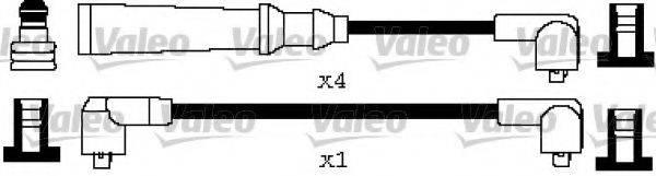 VALEO 346593 Комплект проводов зажигания