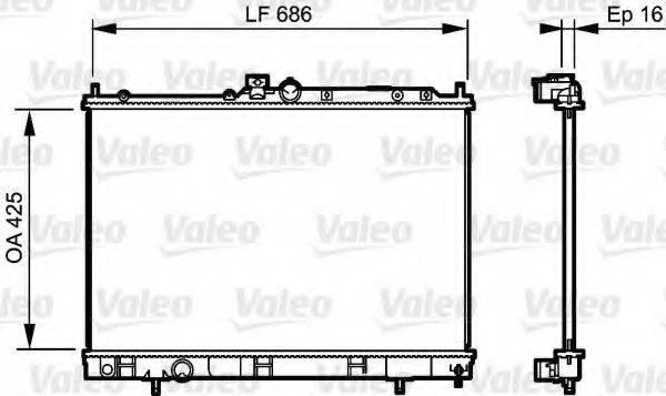 VALEO 735201 Радиатор, охлаждение двигателя