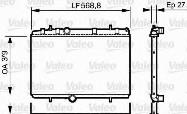 VALEO 734338 Радиатор, охлаждение двигателя