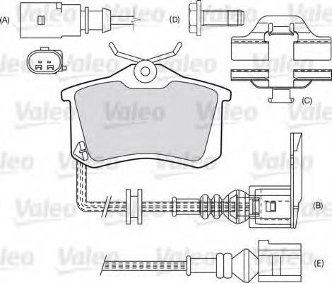 VALEO 598474 Комплект тормозных колодок, дисковый тормоз