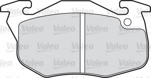 VALEO 598081 Комплект тормозных колодок, дисковый тормоз