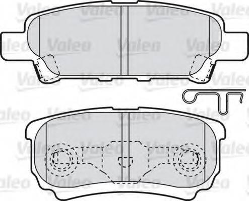 VALEO 598852 Комплект тормозных колодок, дисковый тормоз