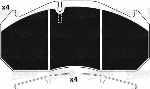 VALEO 882211 Комплект тормозных колодок, дисковый тормоз