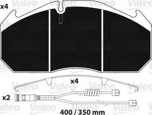 VALEO 882216 Комплект тормозных колодок, дисковый тормоз