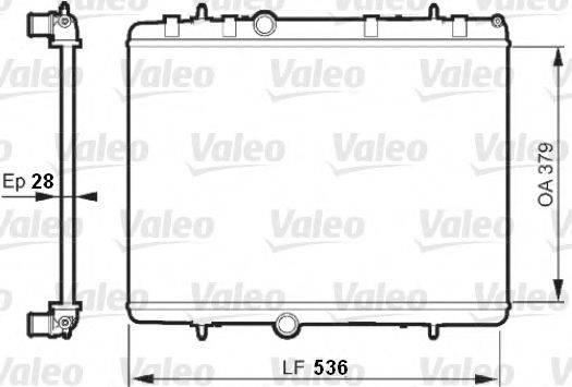 VALEO 735608 Радиатор, охлаждение двигателя