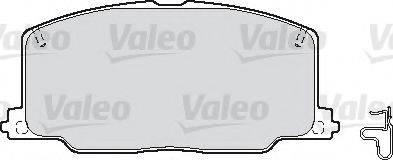 VALEO 598620 Комплект тормозных колодок, дисковый тормоз