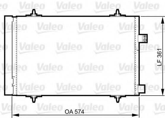 VALEO 814363 Конденсатор, кондиционер