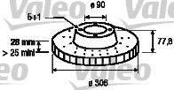 VALEO 186868 Тормозной диск