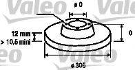 VALEO 186740 Тормозной диск