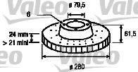 VALEO 186688 Тормозной диск