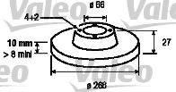 VALEO 186134 Тормозной диск