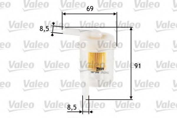 VALEO 587048 Топливный фильтр
