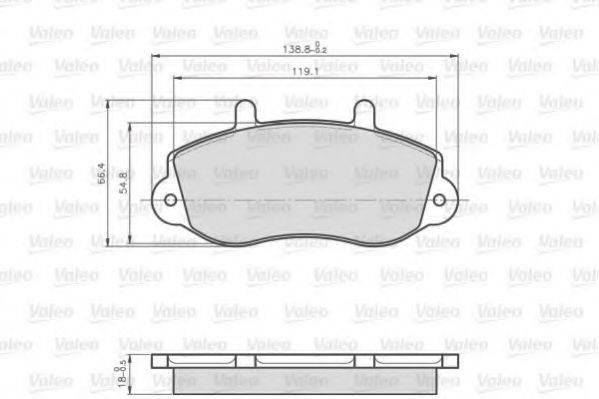 VALEO 872302 Комплект тормозных колодок, дисковый тормоз