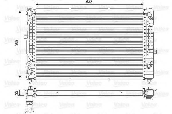 VALEO 734752 Радиатор, охлаждение двигателя