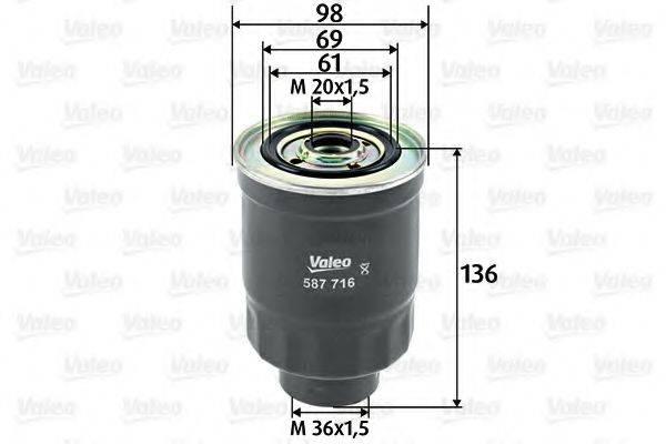 VALEO 587716 Топливный фильтр