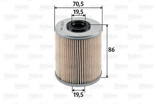 VALEO 587917 Топливный фильтр