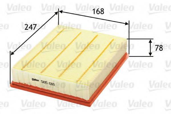 VALEO 585018 Воздушный фильтр