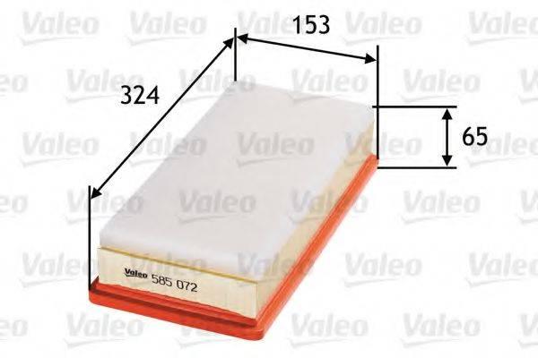 VALEO 585072 Воздушный фильтр