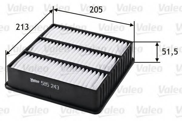 VALEO 585243 Воздушный фильтр