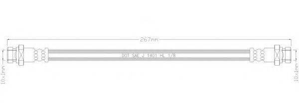 REMKAFLEX 2106 Тормозной шланг