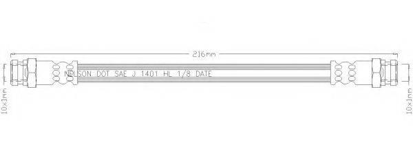 REMKAFLEX 2111 Тормозной шланг