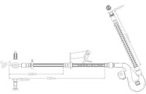 REMKAFLEX 5332 Тормозной шланг