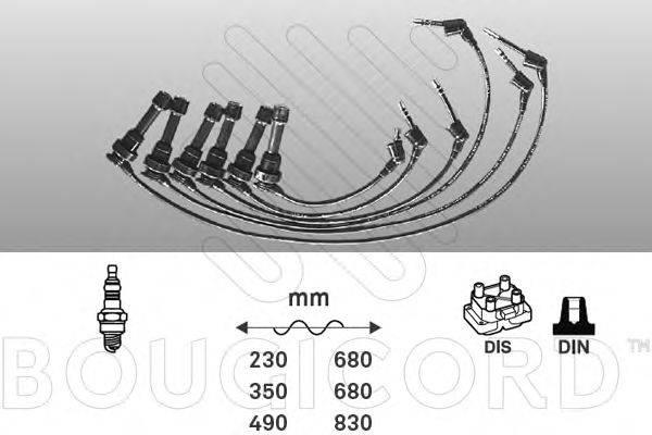BOUGICORD 7170 Комплект проводов зажигания