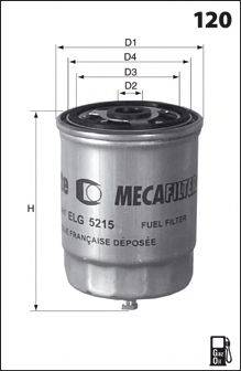 MECAFILTER ELG5419 Топливный фильтр
