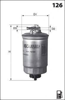 MECAFILTER ELG5256 Топливный фильтр