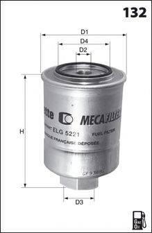 MECAFILTER ELG5247 Топливный фильтр