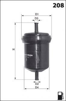 MECAFILTER ELE6043 Топливный фильтр