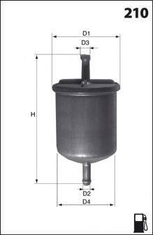 MECAFILTER ELE6039 Топливный фильтр